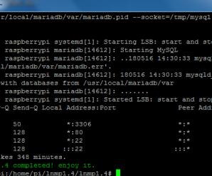 树莓派3B安装军哥LNMP1.4成功 太意外了